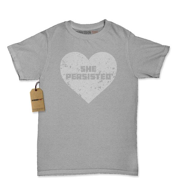 Heart Nevertheless, She Persisted Womens T-shirt