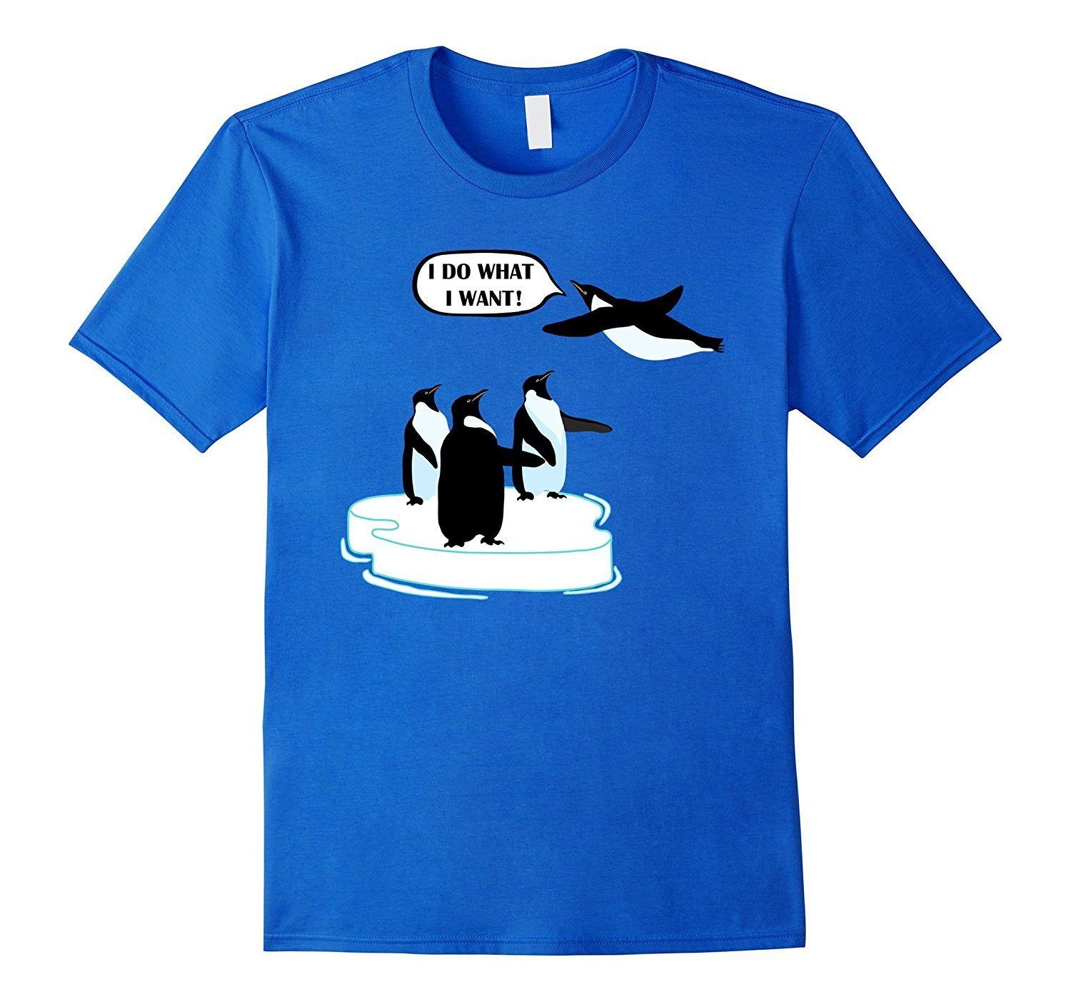 I Do What I Want T-shirt Cool Flying Penguin Tshirt