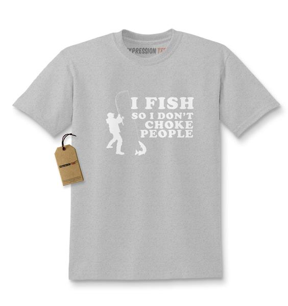 I Fish So I Don't Choke People Kids T-shirt