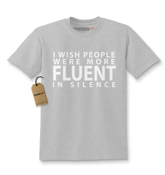 I Wish People Were More Fluent In Silence Kids T-shirt