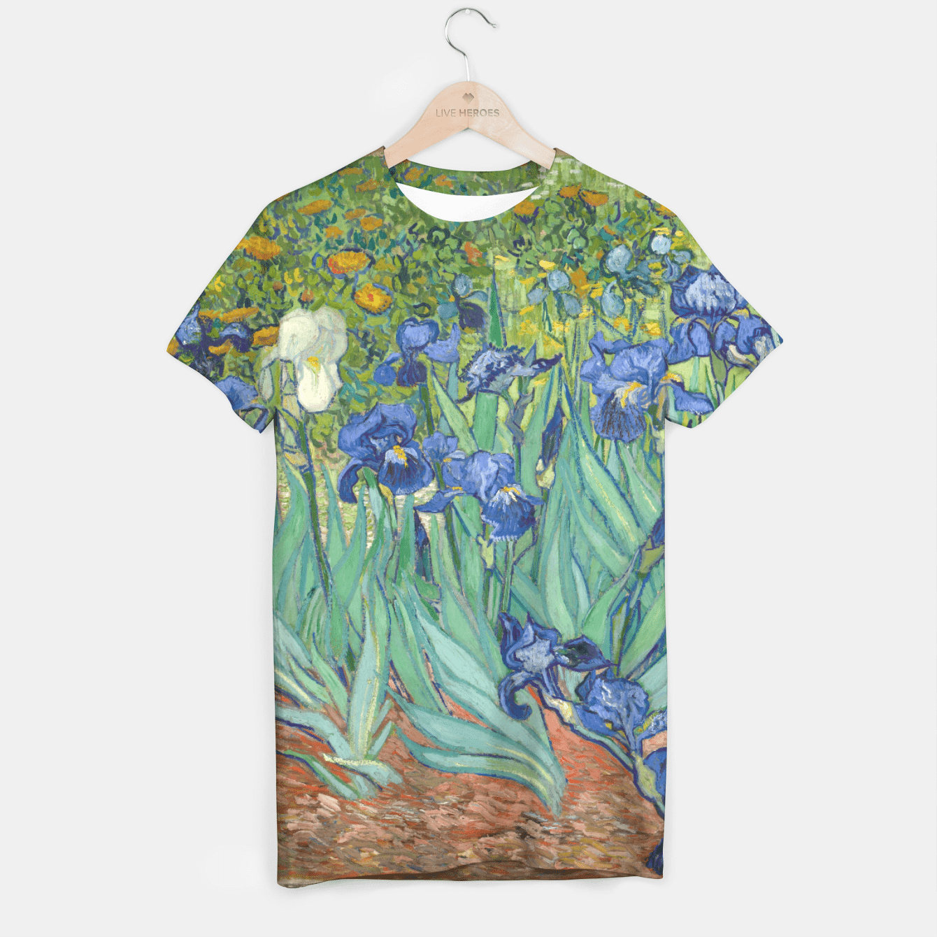 iRiSES BY ViNCENT VAN GOGH T-shirt, Live Heroes