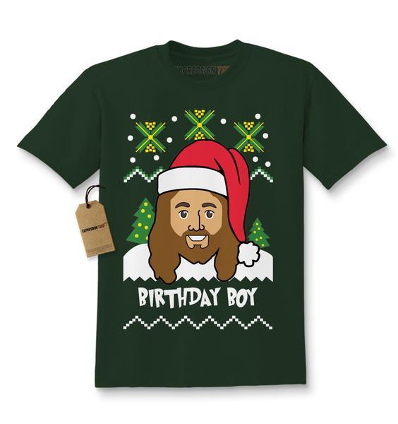 Jesus Birthday Boy Ugly Christmas Kids T-shirt