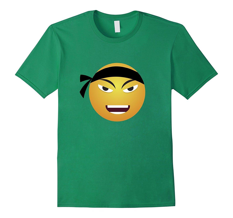 Karate Emoji T-shirt Emoticon Black Belt Fighter Face Tshirt