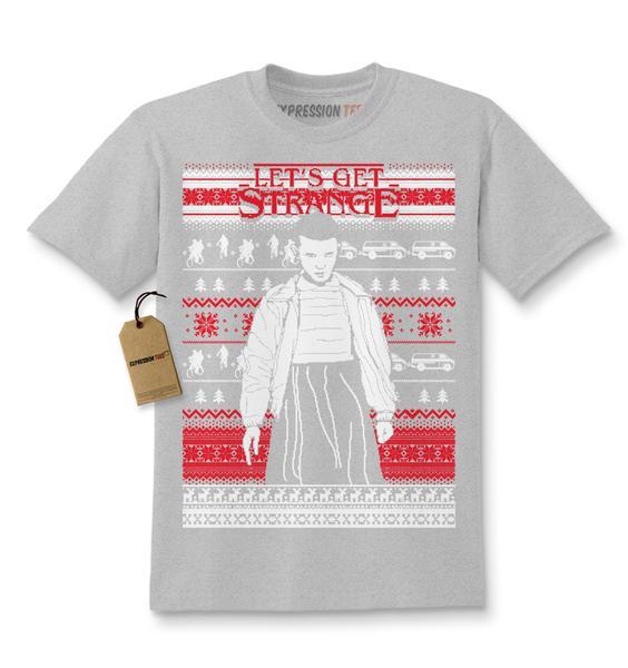 Let's Get Strange Ugly Christmas Kids T-shirt