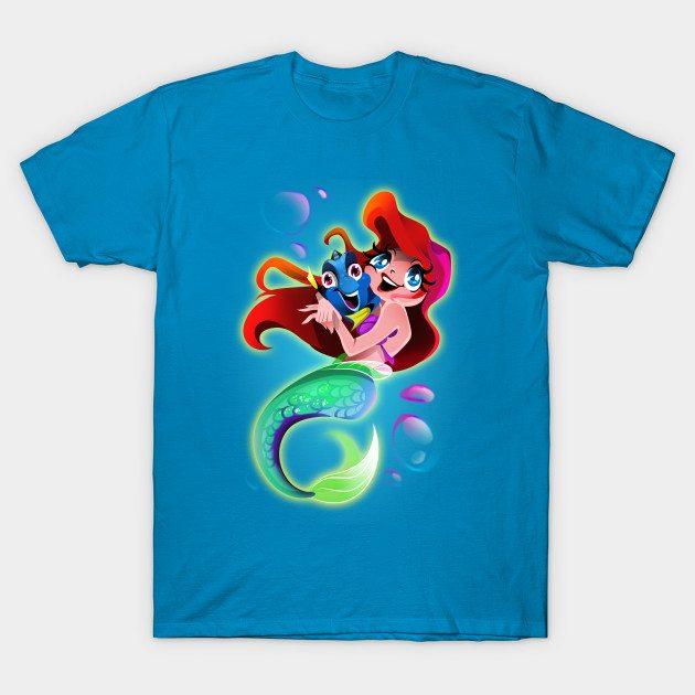 Mermaid Ariel and Amnesia Fish Friend T-Shirt