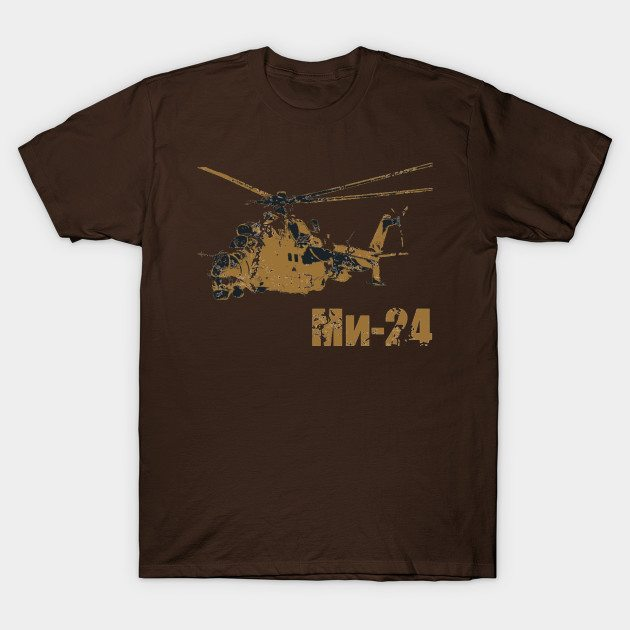 Mil Mi-24 helicopter T-Shirt