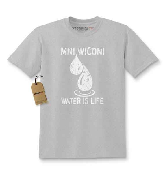 Mni Wiconi Water Is Life Kids T-shirt