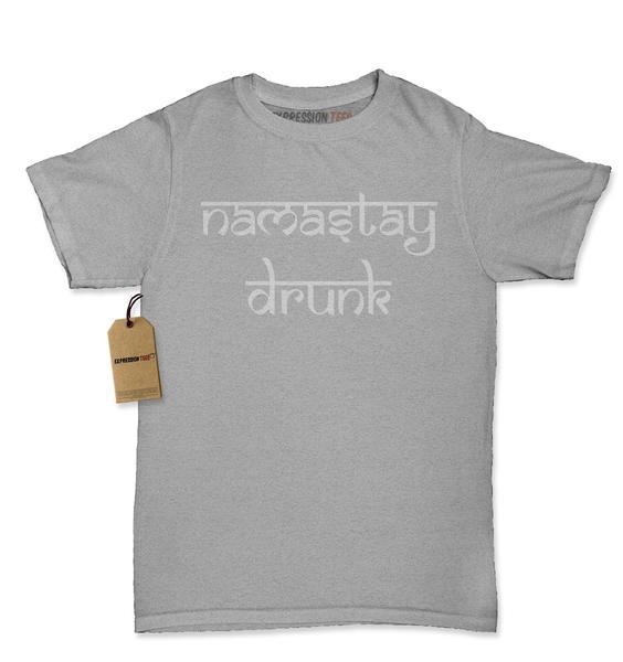 Namastay Drunk Funny Drinking Womens T-shirt