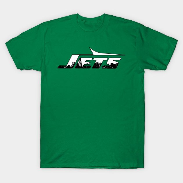 New York Skyline Jets Logo T-Shirt