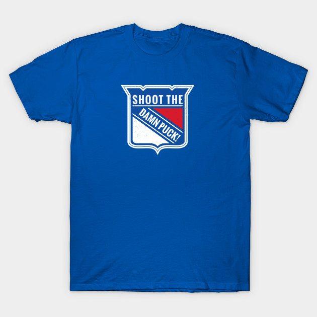 NYR – Shoot The Damn Puck! T-Shirt