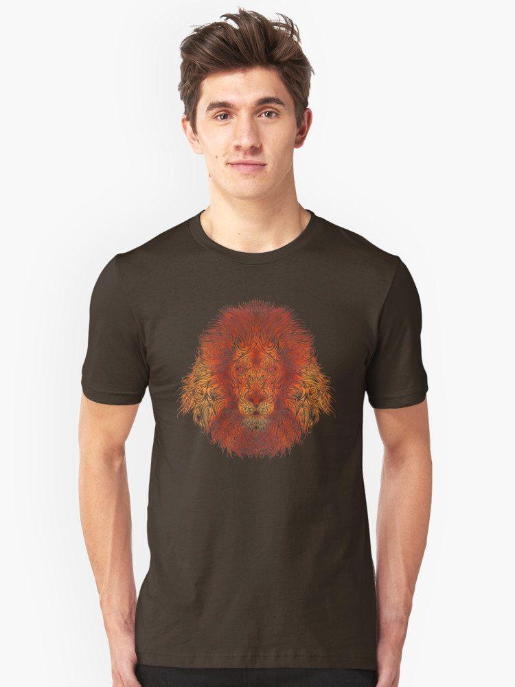 Orange Tribal Lion
