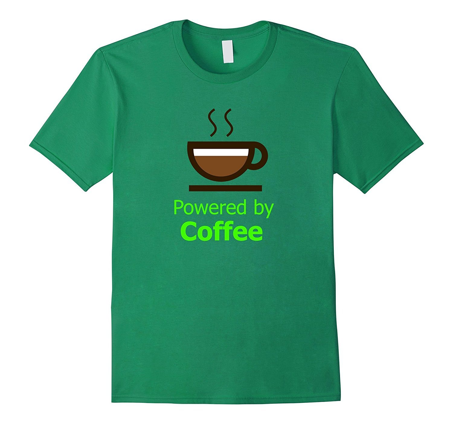 Powered by Coffee Tshirt Funny Coffee Drinker T-shirt.