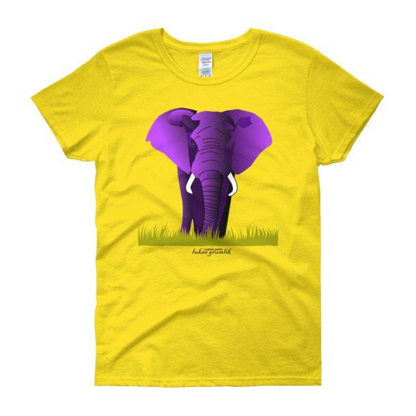 Purple Elephant Women's t-shirt short sleeve –