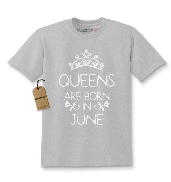Queens Are Born In June Kids T-shirt