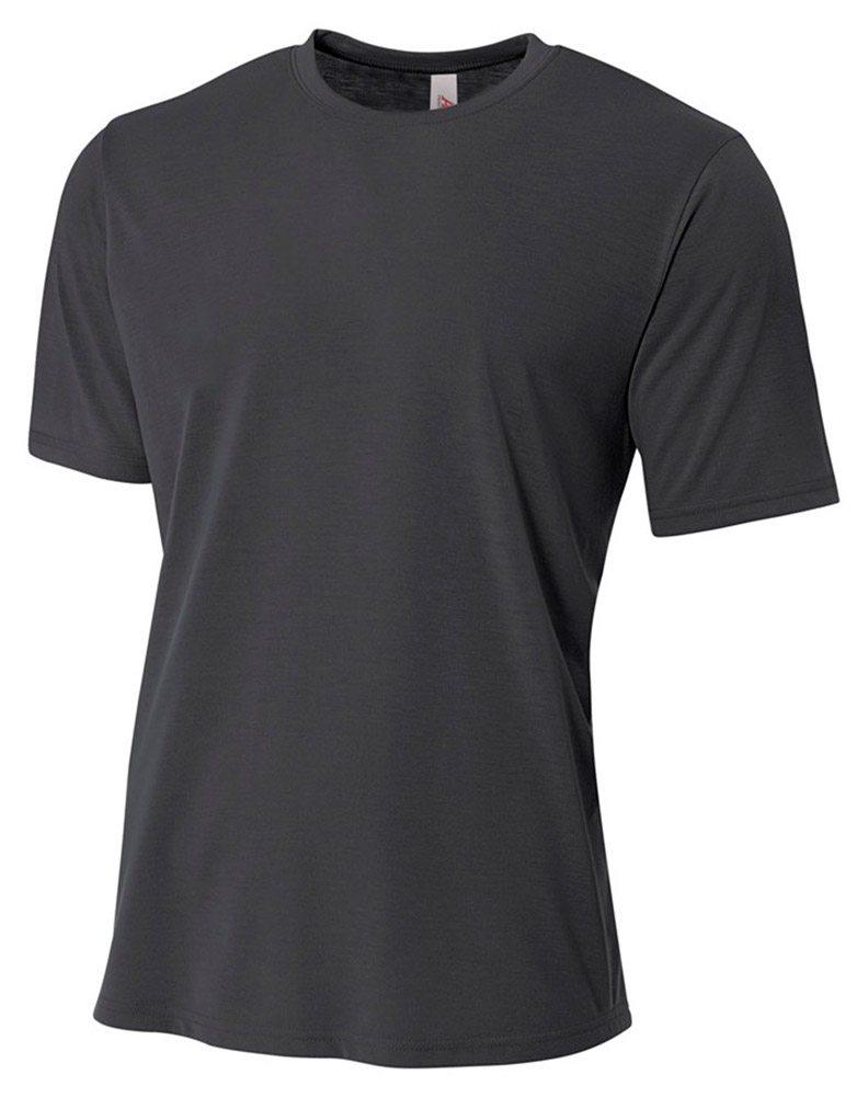 Short Sleeve A4 NB3264 Big Boys Moisture Wicking Poly T-Shirt
