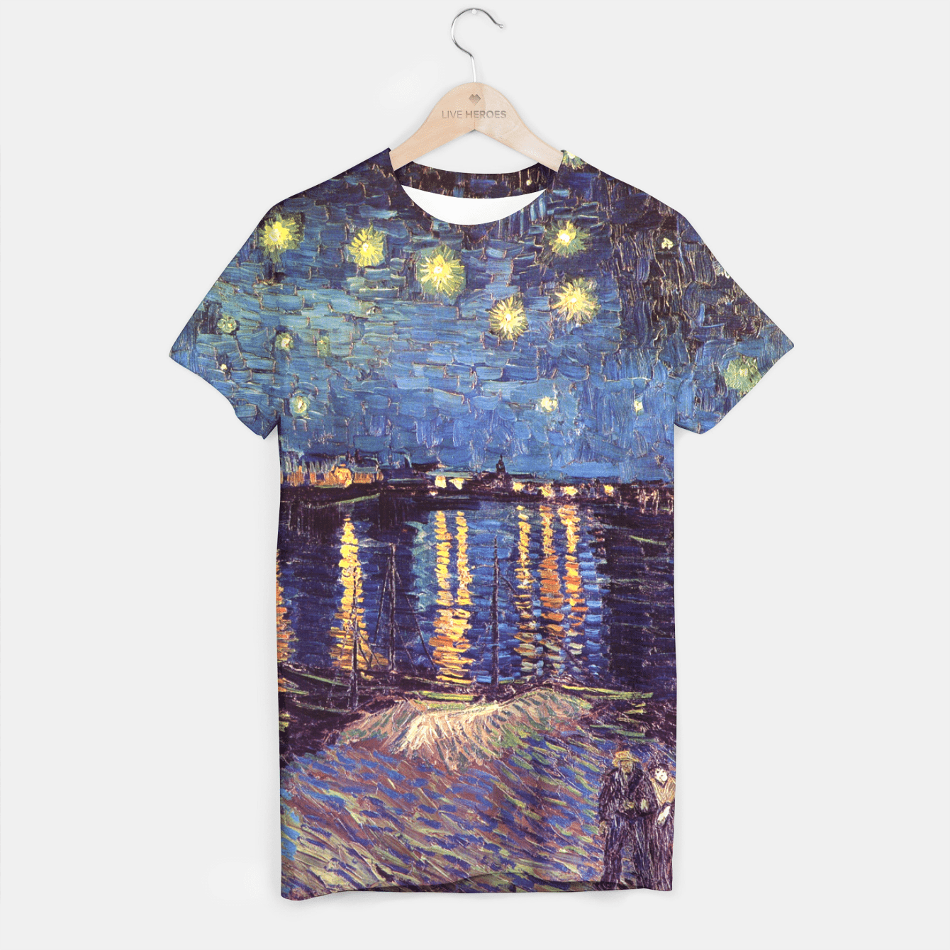 STARRY NiGHT OVER THE RHONE BY ViNCENT VAN GOGH T-shirt, Live Heroes