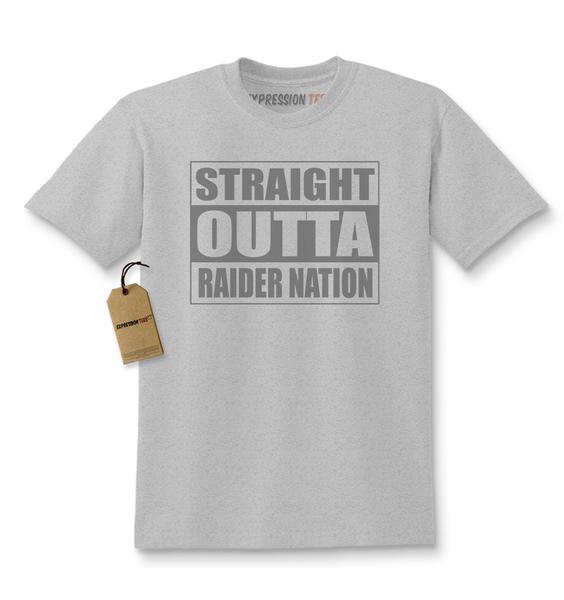 Straight Outta Raider Nation Kids T-shirt