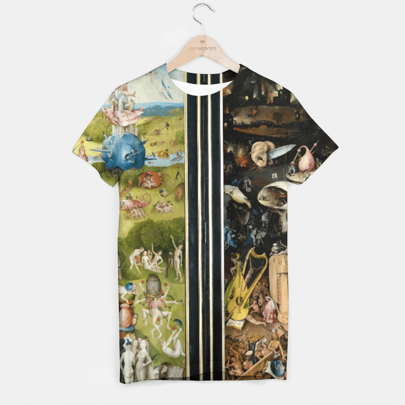 THE GARDEN OF EARTHLY DELiGHTS BY HiERONYMUS BOSCH T-shirt