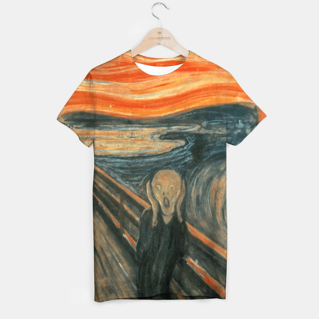 THE SCREAM BY EDVARD MUNCH T-shirt, Live Heroes