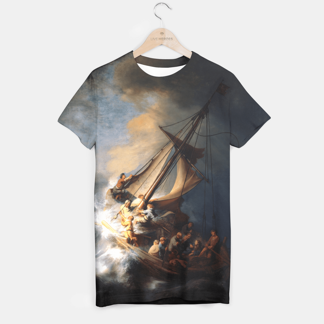 THE STORM ON THE SEA OF GALiLEE BY REMBRANDT T-shirt, Live Heroes