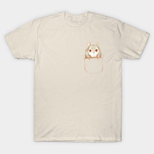 Tiny Cute Mouse Pocket T-Shirt