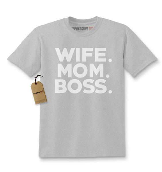 Wife. Mom. Boss. Kids T-shirt