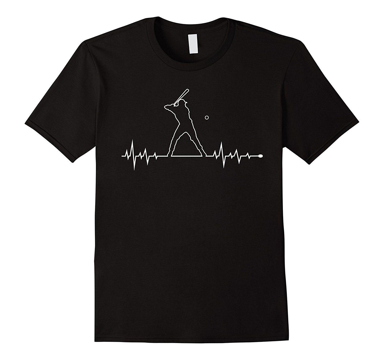 Baseball Player Heartbeat T-Shirt Sport Summer Tshirt