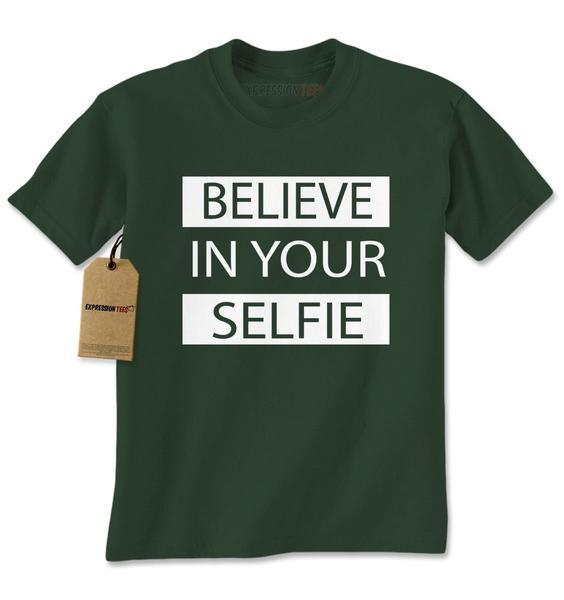 Believe In Your Selfie Mens T-shirt