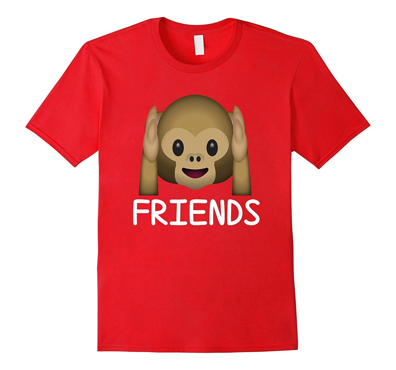 Best Friends Forever Hear No Evil Monkey Emoji T-shirt.