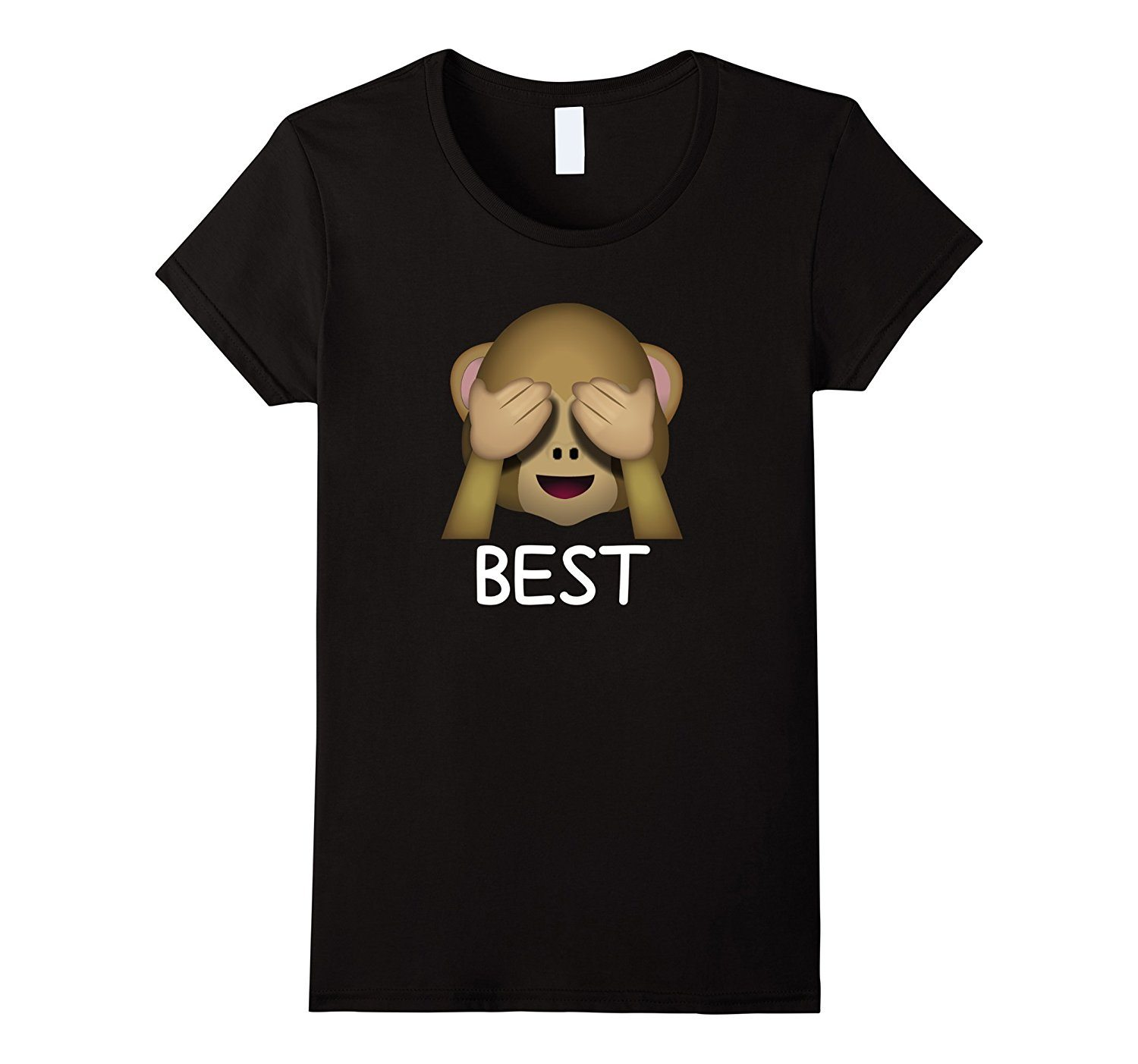 Best Friends Forever See No Evil Monkey Emoji T-shirt
