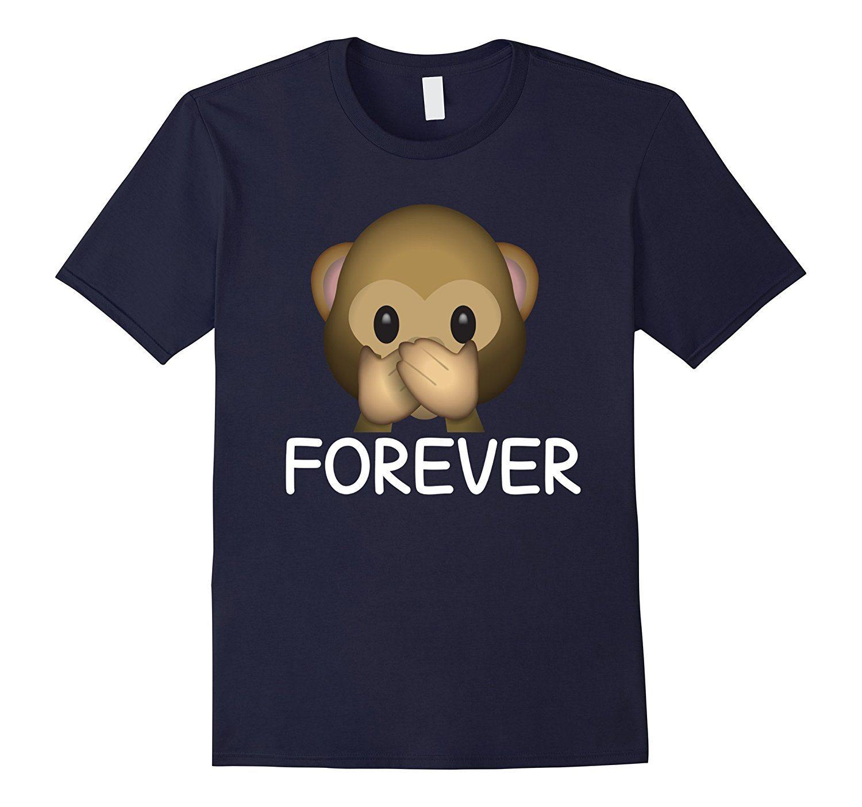 Best Friends Forever Speak No Evil Monkey Emoji T-shirt.