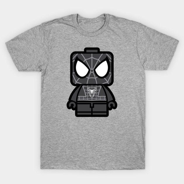 Black Spidey Chibi Man T-Shirt