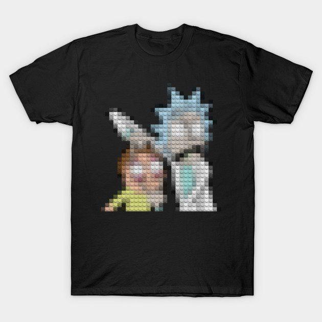 Block Rick Block Morty T-Shirt