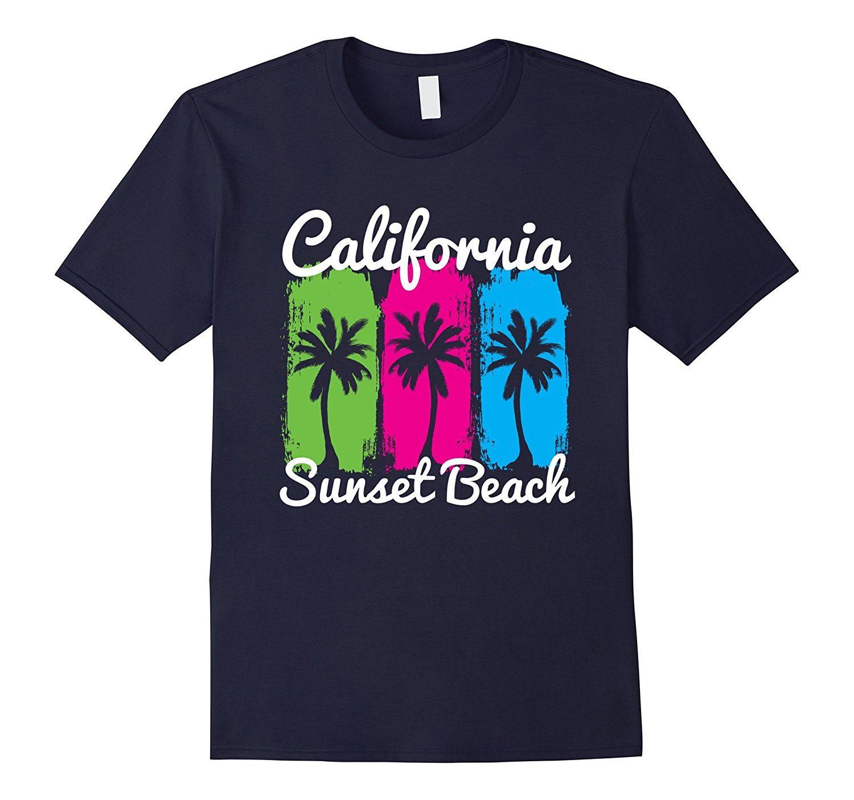 California Sunset Beach Tshirt Paradise Sun Sand T-shirt