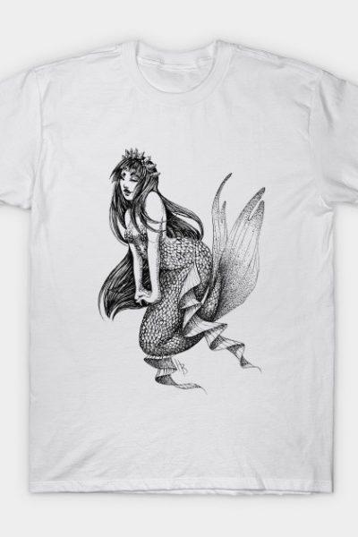 Elegent Mermaid (B&W- full transparent) T-Shirt
