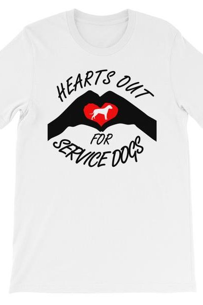 Hearts Out for Service Dogs Tee