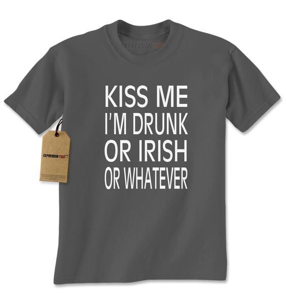Kiss Me I'm Drunk Or Irish Mens T-shirt