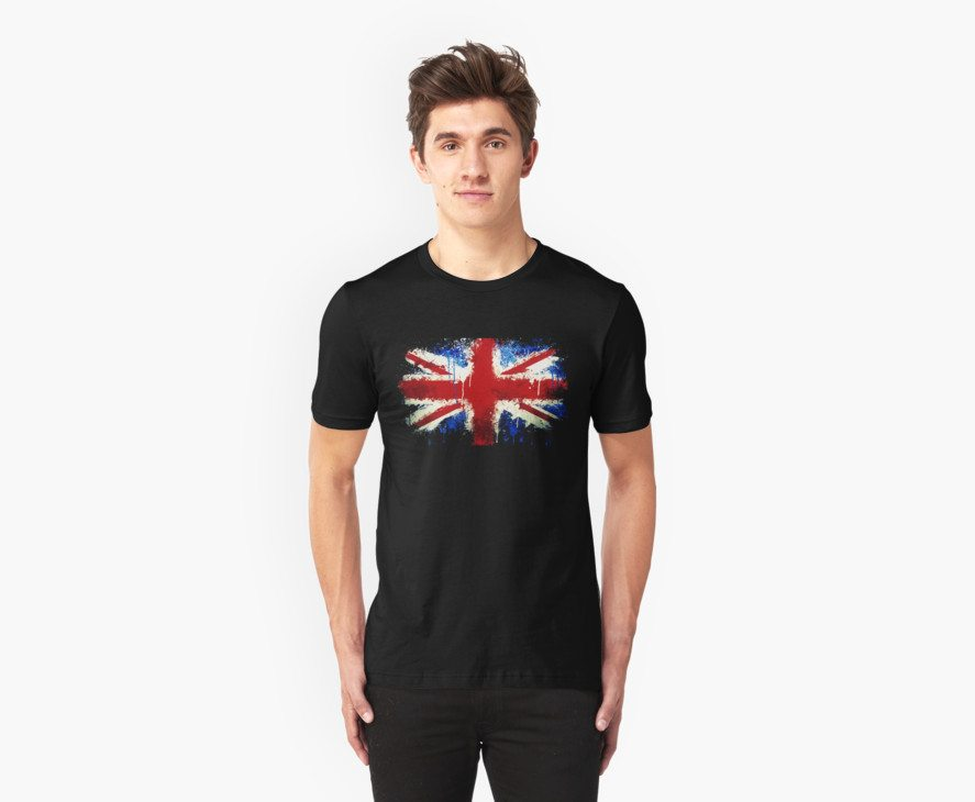 Splattered Union Jack