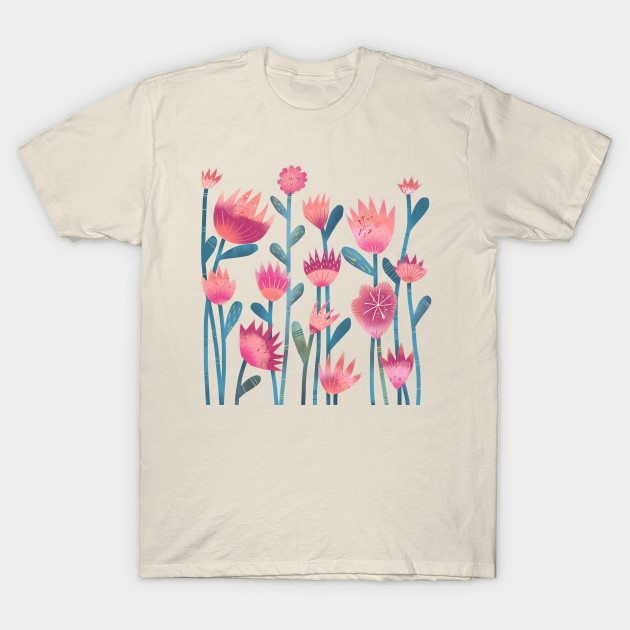 Spring Flowers Nic Squirrell T-Shirt