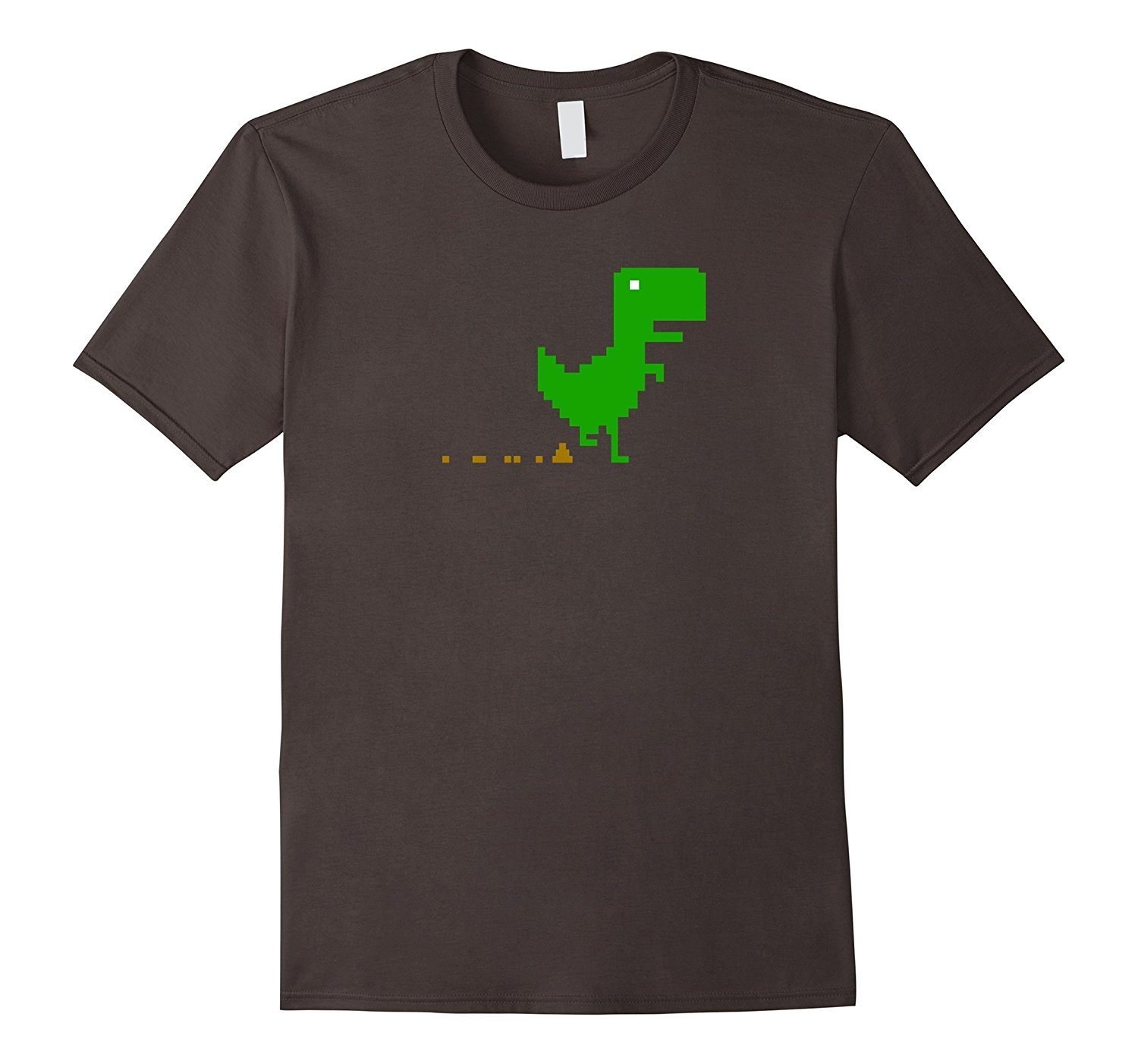 T-Rex Dinosaur Poops funny humor pixel graphic