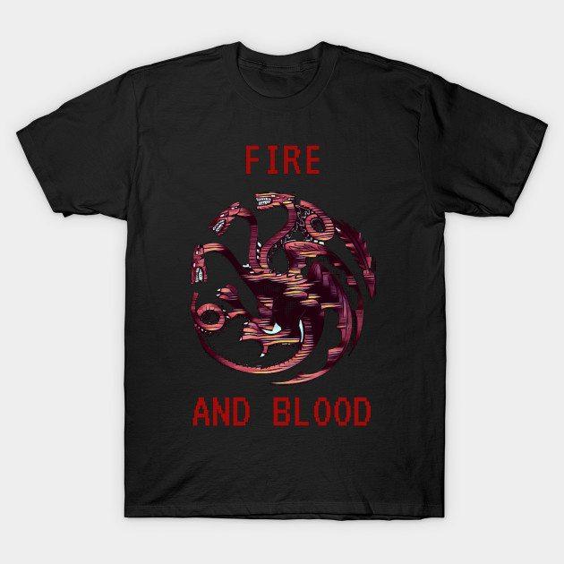 Throne Games – 8-Bit Dragon T-Shirt