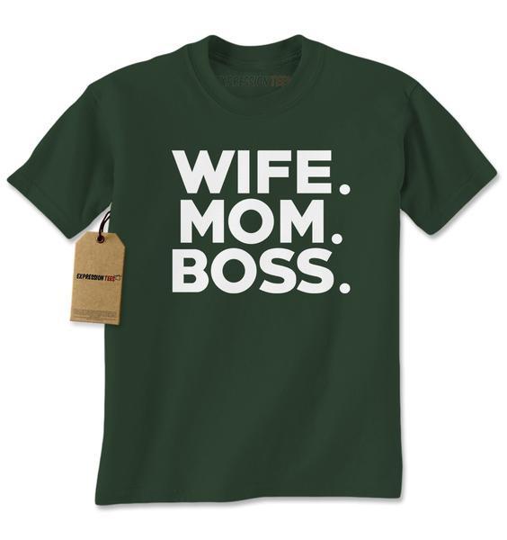 Wife. Mom. Boss. Mens T-shirt
