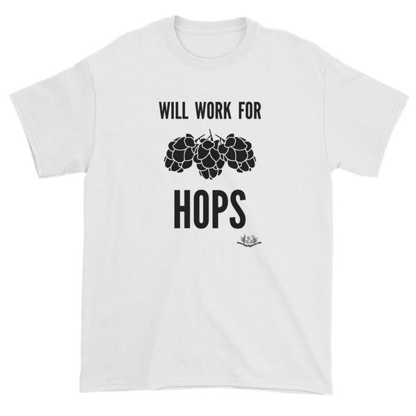 Will work for hops – black text