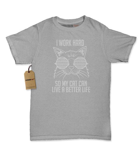 Work Hard For My Cat Womens T-shirt