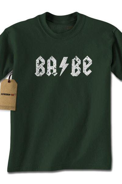 Babe Lightning Bolt Metal Mens T-shirt