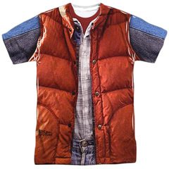 Back To The Future Marty Mcfly All Over Vest Sublimation T-Shirt