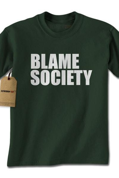 Blame Society Mens T-shirt
