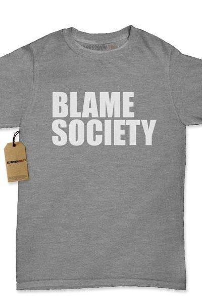 Blame Society Womens T-shirt