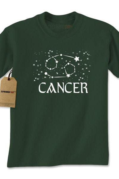 Cancer Zodiac Star Chart Mens T-shirt