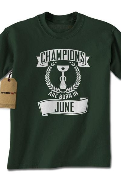 Champions Are Born In June Mens T-shirt